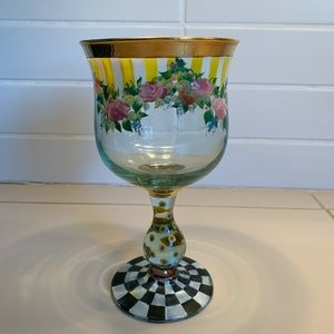 Mackenzie-Childs Circus Painted Goblet Awning Rose